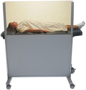 Clear-Lead™ Mobile Nuclear Medicine Barrier - BIODEX 042-585 - 1
