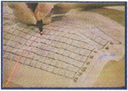 FastFind Grid EG6500 Mark through the area with a felt tip pen where the laser light crosses the line
