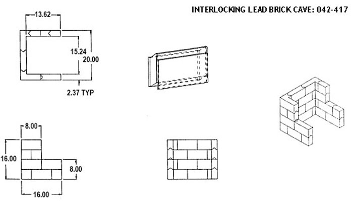 Interlocking Lead Brick Cave: 042-417